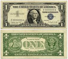Silver Certificate Dollar Bill Value Chart 1957a 1 Silver Certificate S N F 00000009 A Kalvin Jack