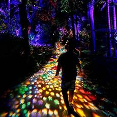 Miami Botanical Gardens Light Show The Economist On Instagram Visitors Walk Along An