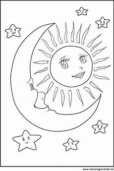 Window Color Malvorlagen Sonne Mond Und Sterne Sonne Mond Und Sterne Malvorlagen
