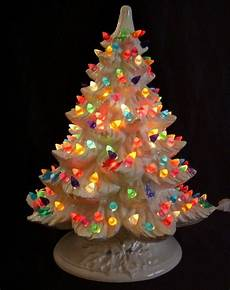 Ceramic Lighted Christmas Trees For Sale Nowell White Ceramic Lighted Christmas Tree Multi Color