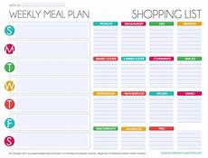 Meal Planning Grocery List Template Free Editable Menu Plan And Grocery List