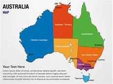 Australian Presentation Australia Map Powerpoint Map Slides Australia Map Map