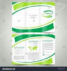 Background Leaflet Design Brochure Design Template Folder Leaflet Green Line Element