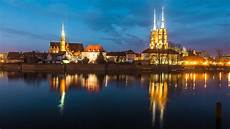Poland Nature 4k Wallpaper by Wallpaper Wroclaw Poland River Lights Houses