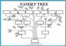 Family Tree Outlines Free Where Can You Find A Printable Family Tree Template