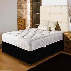 orthopedic divan bed set mattress headboard size 3ft