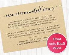 How To Word Hotel Accommodations For Wedding Invitations Accommodations Card 183 Wedding Templates And Printables