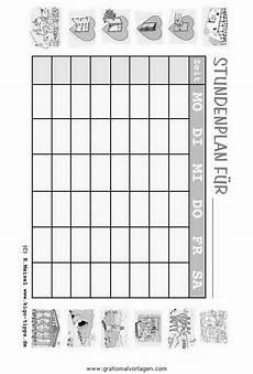 Gratis Malvorlagen Stundenplan Stundenplan 02