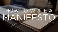 How To Write Copyright How To Write A Manifesto Youtube