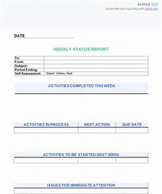 Employment Status Report 6 Awesome Weekly Status Report Templates Free Download