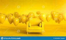 Air Sofa Yellow Blue 3d Image by 3d Render Of Pink Sofa Or Armchair In Yellow Studio With
