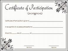 Free Printable Participation Certificates 8 Certificate Of Appreciation Draft Sampletemplatess