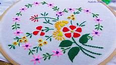 Nakshi Kantha Design Hand Embroidery Flower Design By Nakshi Kantha World Youtube