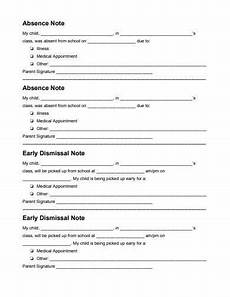 School Absence Note Template Free 10 School Absence Note Templates In Pdf Google Docs