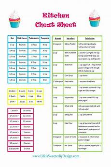 Foodi Cooking Chart A Conversion Chart That Includes Common Substitutions Will