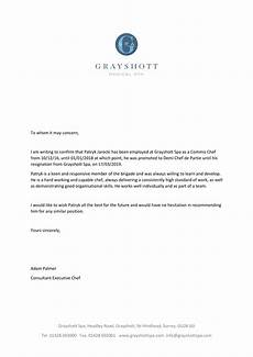 Chef De Partie Cover Letter Chef De Partie Reference Letter Invitation Template Ideas