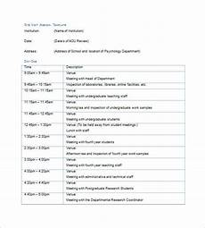 Programme Itinerary Template 6 Trip Agenda Templates Free Sample Example Format