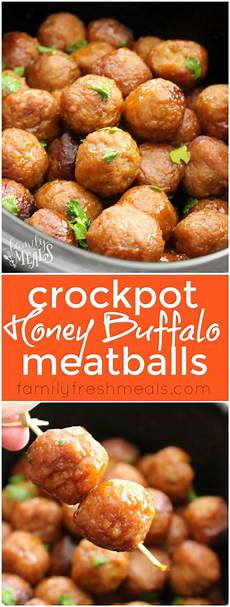 honey buffalo crockpot meatballs this appetizer