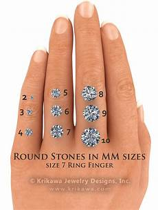Actual Gemstone Size Chart Center Stone Size Charts And Diagrams