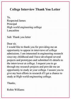 Example Thank You Note After Interview 20 Sample Format Of Thank You Letter Template After