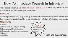 Introduction For Interview How To Introduce Yourself In Interview Issb Interview