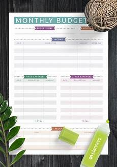 Monthly Budget Template Download Printable Monthly Budget Casual Style Pdf