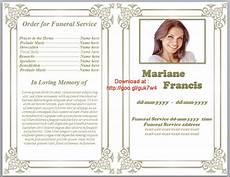 Printable Funeral Programs Free Printable Funeral Program Template Playbestonlinegames