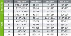 Realtree Youth Size Chart Size Charts O Neill Clothing Amp Wetsuits