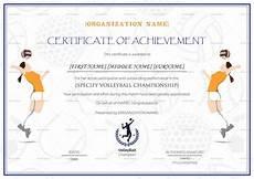Volleyball Certificate Templates Girls Volleyball Certificate Design Template In Psd Word
