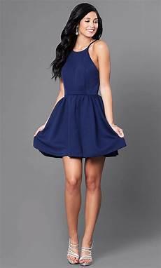 open back navy blue dress promgirl