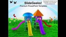 Playground Templates Colorful Playground With Game Theme Powerpoint Templates