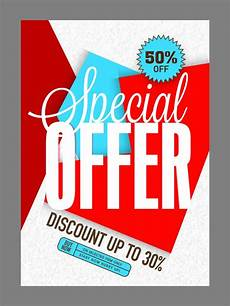Specials Flyer Template Special Offer Sale Poster Banner Or Flyer Design Vector
