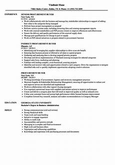 Sample Buyer Resume Procurement Buyer Resume Samples Velvet Jobs