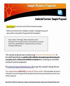 Cleaning Business Proposal Sample Free 17 Business Proposal Samples In Excel Ms Word