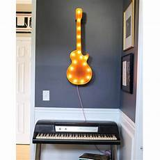 Buy Marquee Lights 36 Large Guitar Vintage Marquee Sign With Lights Rustic