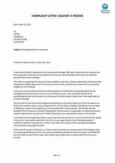 Formal Complaint Letters Formal Complaint Letter Sample Against A Lawyer Letter