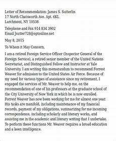 Air Force Letter Of Recommendation For Special Duty Assignment Free 6 Sample Air Force Letter Of Recommendation In Ms