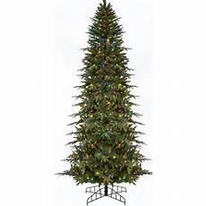 7 5 Slim Christmas Tree With Led Lights 7 5 Pre Lit Slim Palisade Artificial Christmas Tree