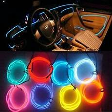 Car Interior Led Lights Red Car Interior Decor 12v Red Led Lamp Wire Luminescent Tube