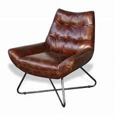 sessel leder braun design siebziger sessel in vintage braun leder und metall
