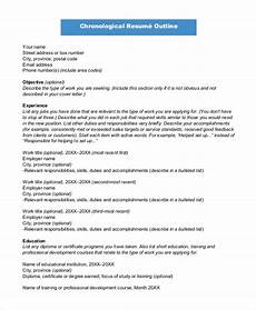 Resume Outline Sample Free 8 Sample Resume Outline Templates In Pdf Ms Word