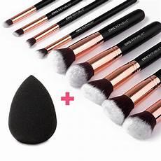 gold 10 makeup brush set chic republic 174
