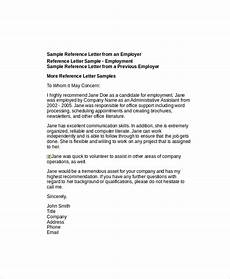 How To Write Recommendation Letter For Employee Free 6 Sample Employee Recommendation Letter Templates In
