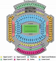 Bryant Denny Stadium Seating Chart With Seat Numbers Seating Chart Alabama Football Tickets