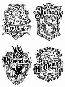 Harry Potter Wappen Malvorlagen Harry Potter House Emblems Harry Potter Painting Harry