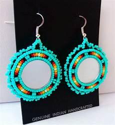 beadwork earrings powwow style beaded earrings w 925 sterling silver