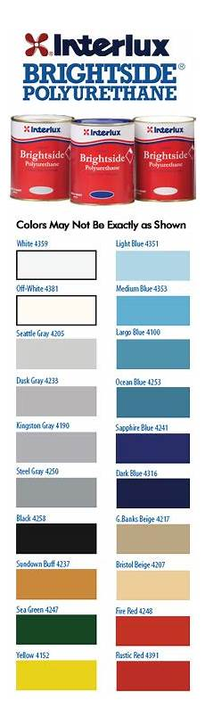 Interlux Color Chart Departments Interlux Quot Brightside Quot Polyurethane Paint Qt