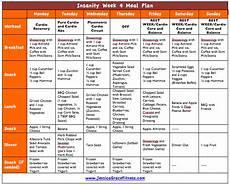 Insanity Food Plan Insanity Week 4 Meal Plan Free Meal Plan Insanity