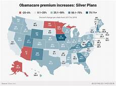 Obamacare Plan Comparison Chart Obamacare Premiums 2018 Increase By State Business Insider