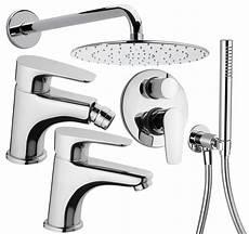 rubinetti bagno design paini smart kit di 3 rubinetti soffione doccia e presa